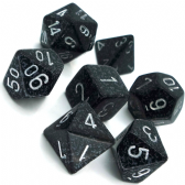 Black & Grey 'Ninja' Speckled Polyhedral 7 Dice Set